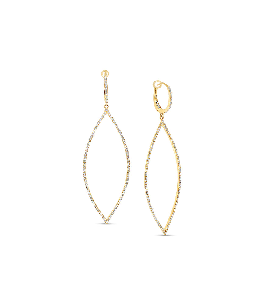 Diamond Jumbo Marquise Earring - 14K Yellow Gold - Olive & Chain Fine Jewelry