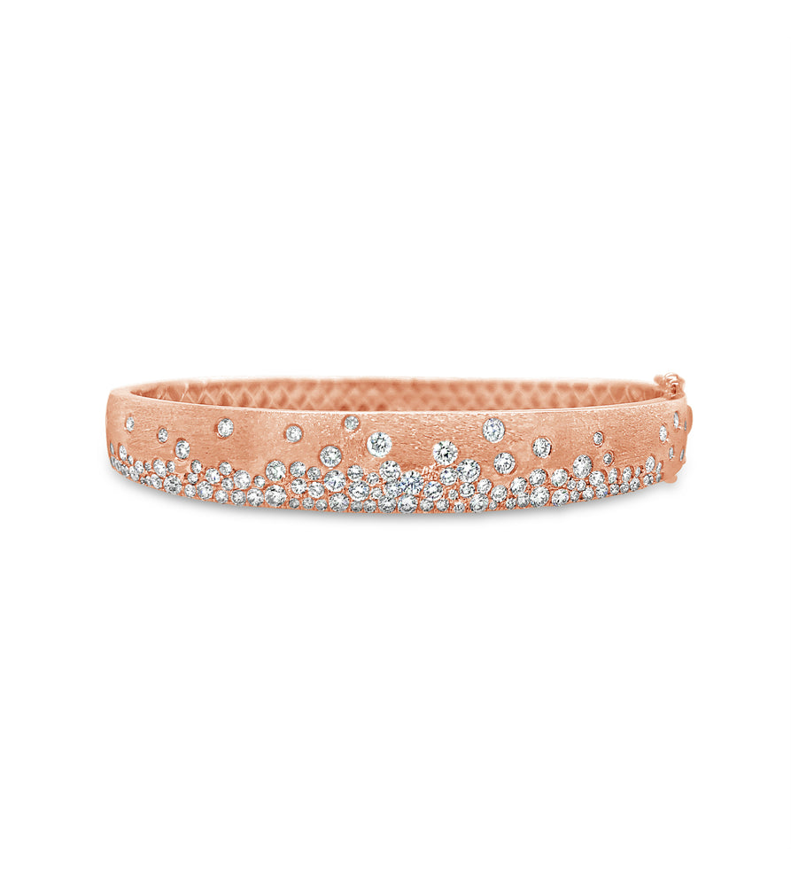 Diamond Celestial Bangle - 14K Rose Gold / 7 - Olive & Chain Fine Jewelry
