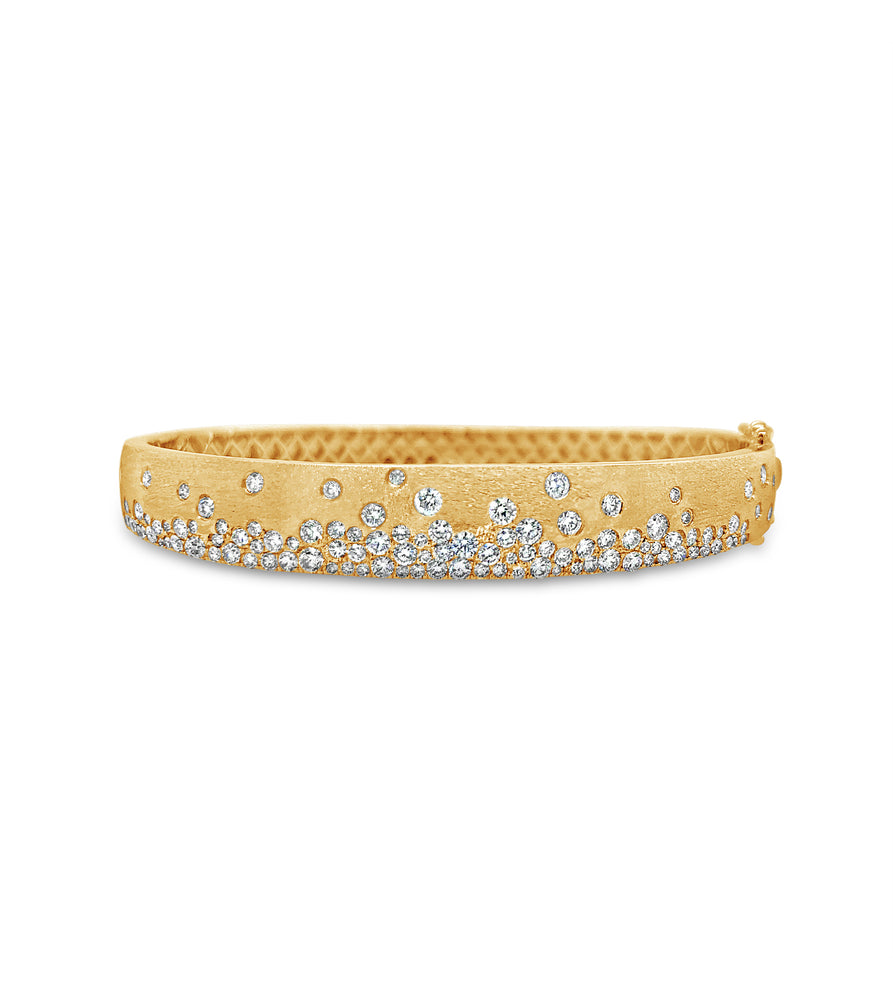 Diamond Celestial Bangle - 14K Yellow Gold / 7 inch - Olive & Chain Fine Jewelry