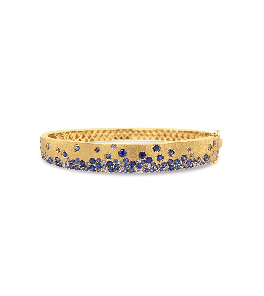 Sapphire Celestial Bangle - 14K  - Olive & Chain Fine Jewelry