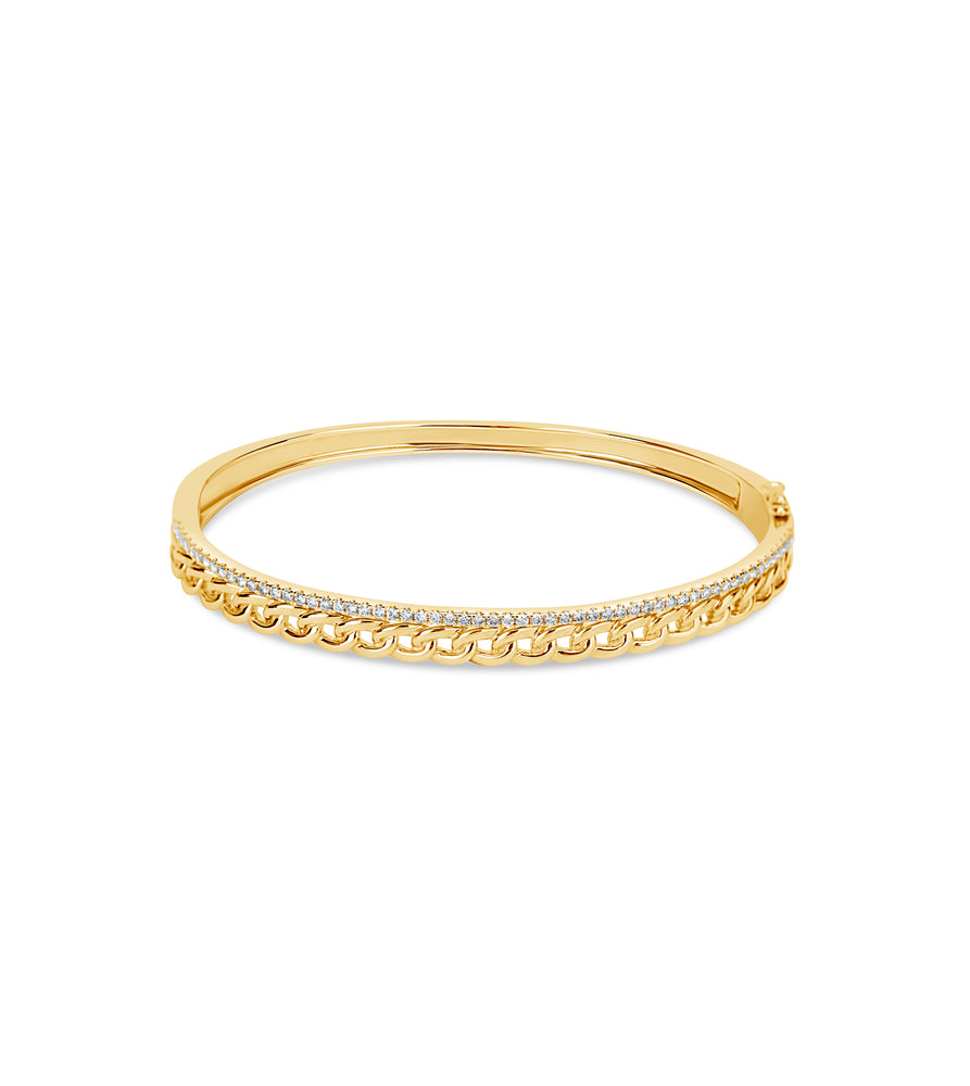 Diamond Bar and Link Bangle