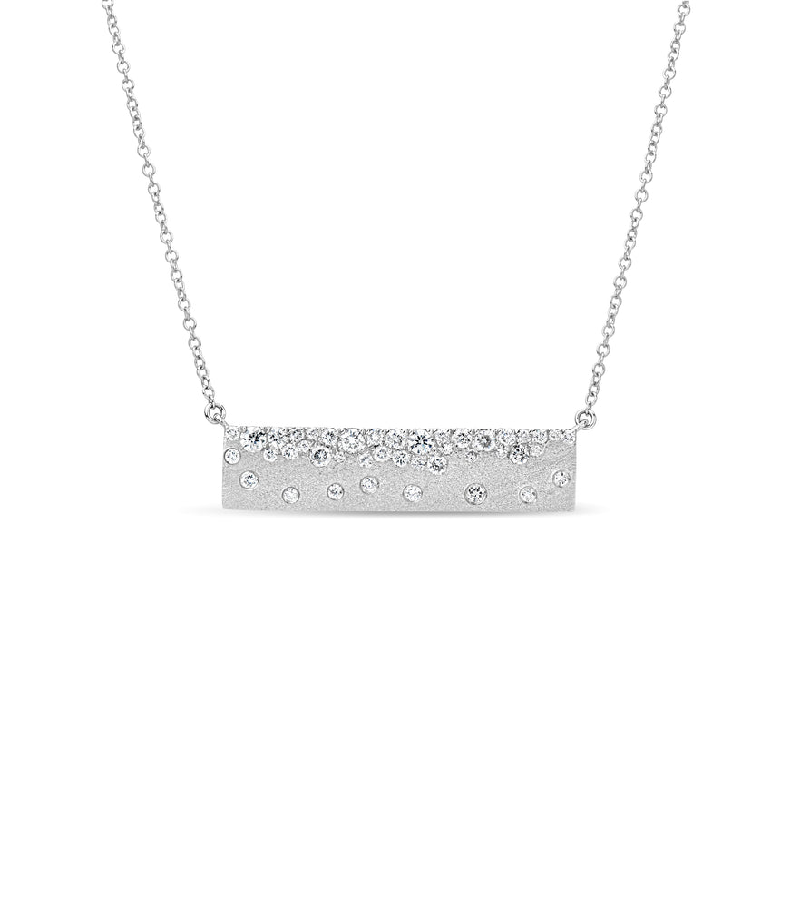 Diamond Celestial Bar Necklace - 14K White Gold - Olive & Chain Fine Jewelry