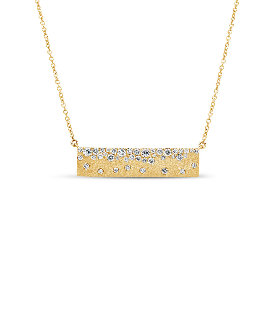 Diamond Celestial Bar Necklace - 14K Yellow Gold - Olive & Chain Fine Jewelry