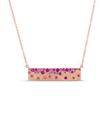 Ruby Celestial Bar Necklace