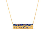 Sapphire Celestial Bar Necklace - 14K Yellow Gold - Olive & Chain Fine Jewelry