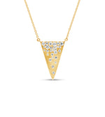Diamond Celestial Triangle Necklace - 14K Yellow Gold - Olive & Chain Fine Jewelry