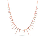 Diamond Princess Necklace - 14K Rose Gold - Olive & Chain Fine Jewelry
