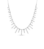 Diamond Princess Necklace - 14K White Gold - Olive & Chain Fine Jewelry