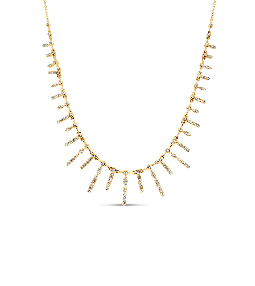 Diamond Princess Necklace - 14K Yellow Gold - Olive & Chain Fine Jewelry