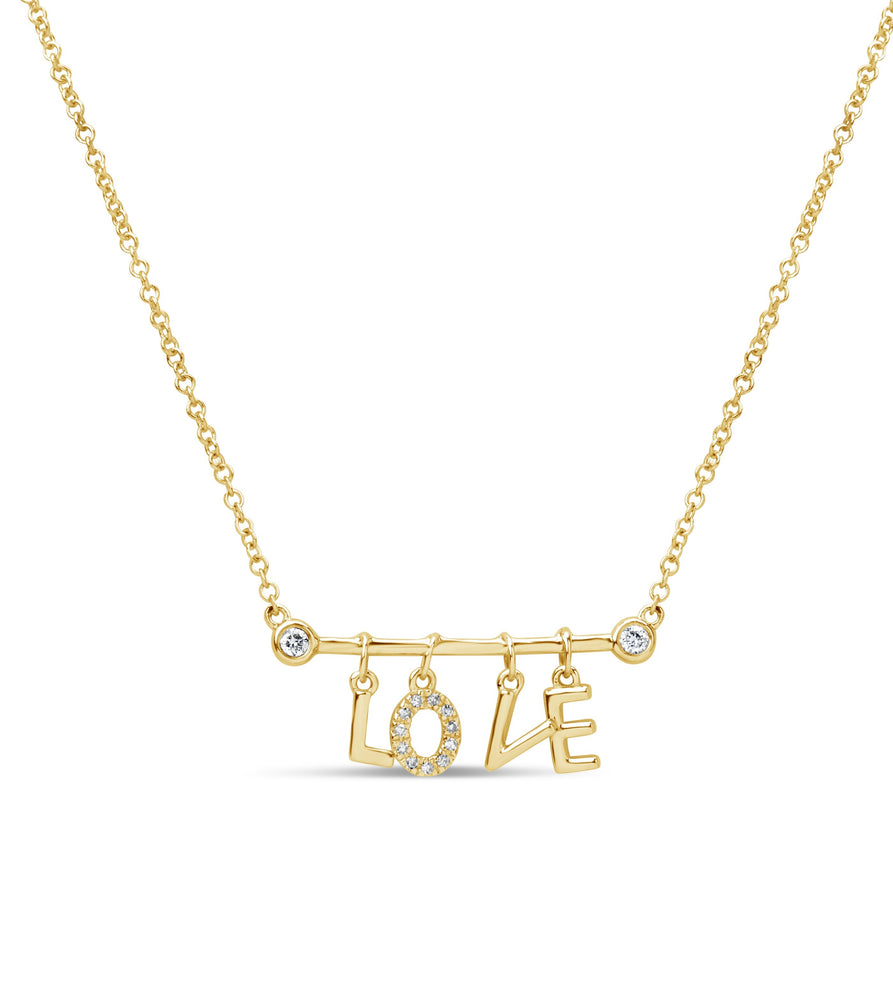 Diamond Love Necklace - 14K Yellow Gold - Olive & Chain Fine Jewelry