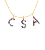 Rainbow Initial Necklace