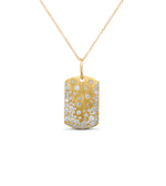 Diamond Celestial Dog Tag Necklace - 14K  - Olive & Chain Fine Jewelry