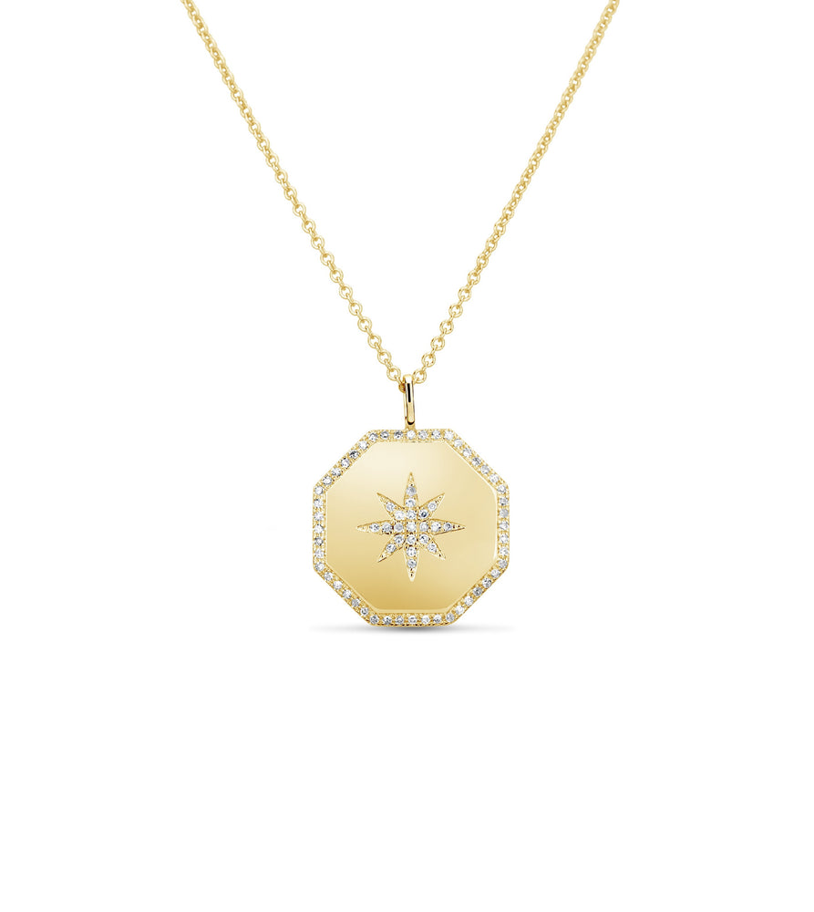 Diamond North Star Necklace - 14K Yellow Gold - Olive & Chain Fine Jewelry