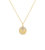 Diamond Celestial Disc Necklace