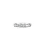 Baguette & Round Diamond Band - 14K White Gold / Petite / 4 - Olive & Chain Fine Jewelry