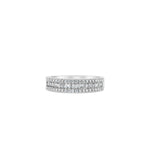 Baguette & Round Diamond Band - 14K White Gold / Small / 4 - Olive & Chain Fine Jewelry