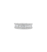 Baguette & Round Diamond Band - 14K White Gold / Medium / 4 - Olive & Chain Fine Jewelry