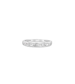 Diamond Baguette Channel Set Band - 14K White Gold / 5 - Olive & Chain Fine Jewelry