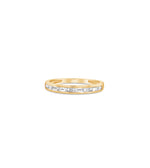 Diamond Baguette Channel Set Band - 14K Yellow Gold / 5 - Olive & Chain Fine Jewelry