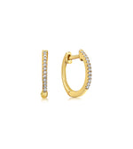 Diamond Mini Huggie Earring - 14K Yellow Gold / Pair - Olive & Chain Fine Jewelry