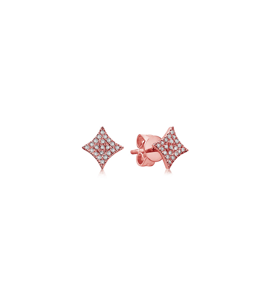 Diamond Firework Stud Earring - 14K Rose Gold / Pair - Olive & Chain Fine Jewelry