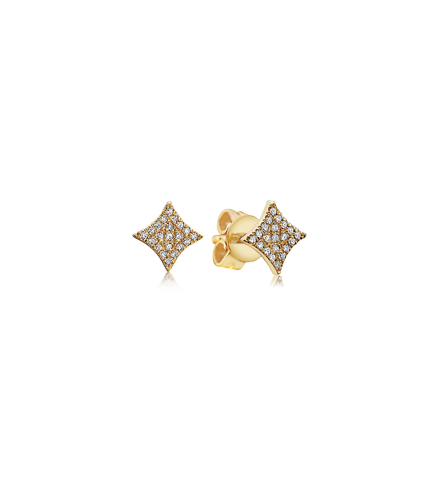 Diamond Firework Stud Earring - 14K Yellow Gold / Pair - Olive & Chain Fine Jewelry