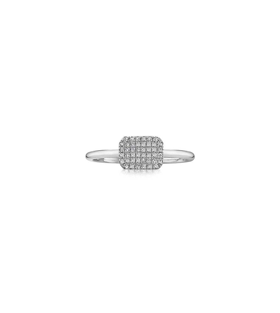 Diamond Radiant Ring - 14K White Gold / 5 - Olive & Chain Fine Jewelry