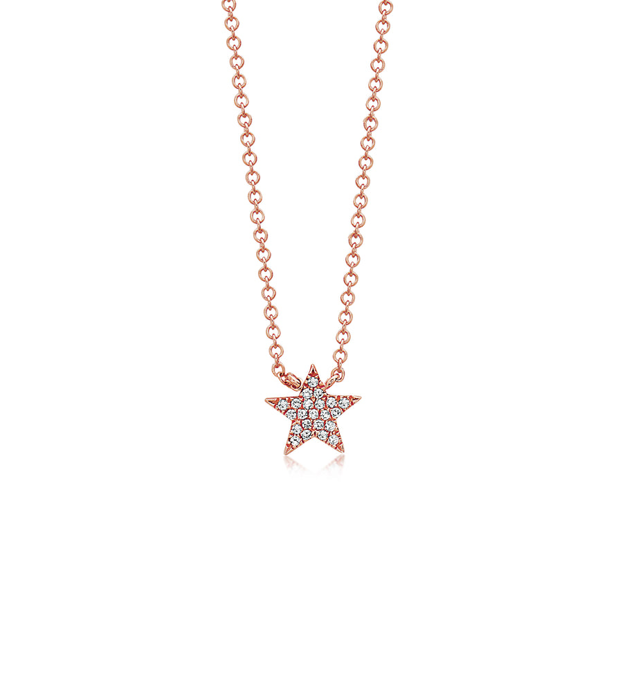 Diamond Star Necklace - 14K Rose Gold - Olive & Chain Fine Jewelry