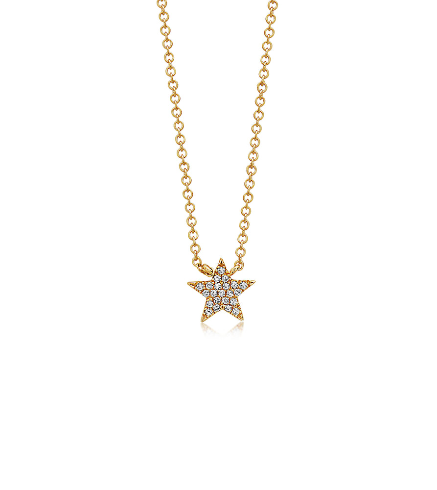 Diamond Star Necklace - 14K Yellow Gold - Olive & Chain Fine Jewelry