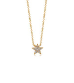 Diamond Star Necklace - 14K Yellow Gold - Olive Jewelry