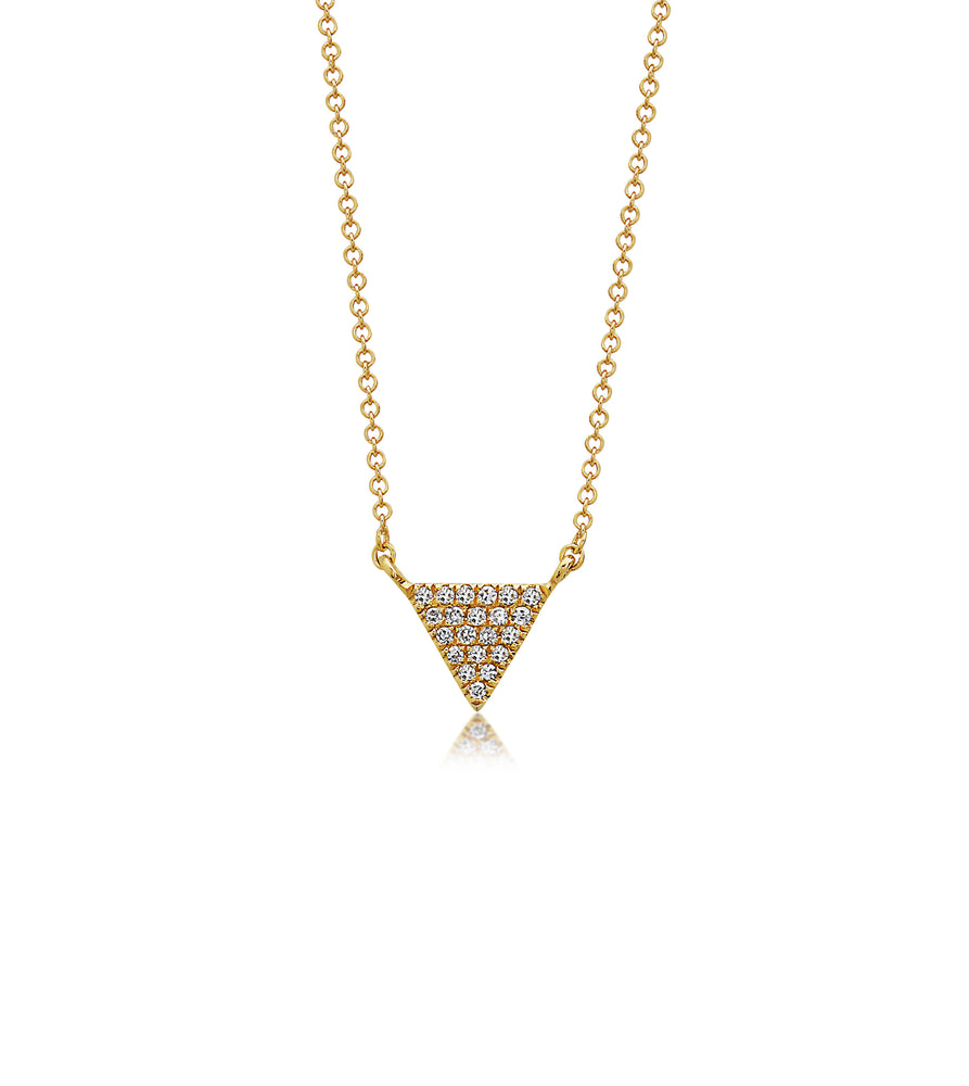 Diamond Triangle Necklace - 14K Yellow Gold - Olive & Chain Fine Jewelry