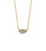 Diamond Marquise Necklace - 14K Yellow Gold - Olive & Chain Fine Jewelry