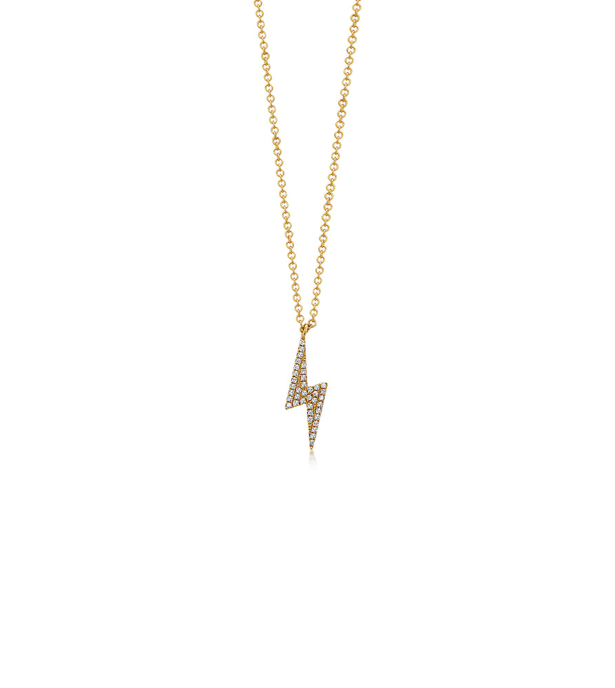 Diamond Bolt Necklace - 14K Yellow Gold - Olive & Chain Fine Jewelry