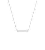 Diamond Long Bar Necklace - 14K White Gold - Olive & Chain Fine Jewelry