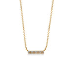 Diamond Bar Necklace - 14K Yellow Gold - Olive & Chain Fine Jewelry
