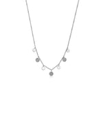 Diamond Charm Disc Necklace