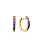 Rainbow Huggie Earring - 14K Yellow Gold - Olive & Chain Fine Jewelry