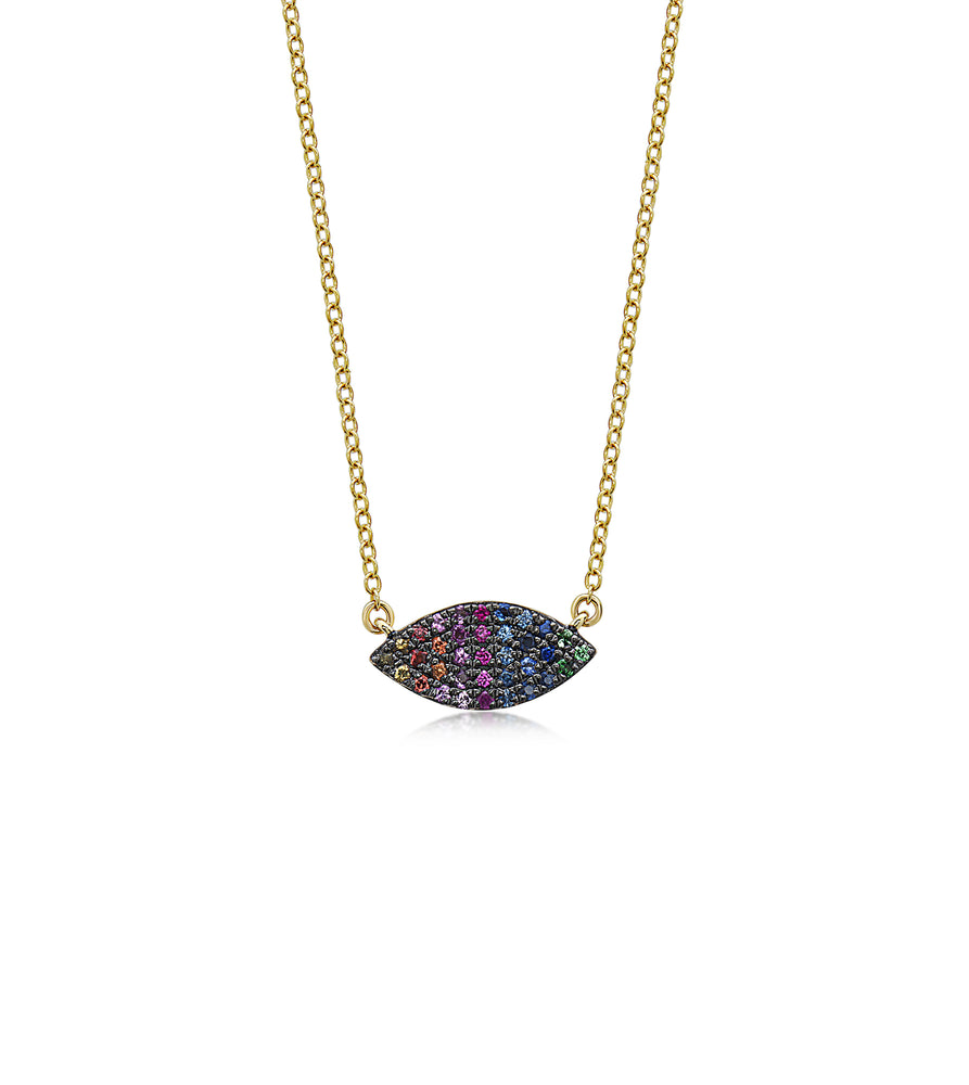 Rainbow Marquise Necklace