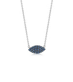 Sapphire Marquise Necklace - 14K White Gold - Olive & Chain Fine Jewelry