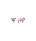 Diamond Triangle Stud Earring - 14K Rose Gold / Pair - Olive & Chain Fine Jewelry