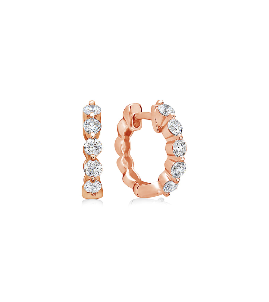 Full Cut Diamond Huggie Earring