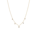 Diamond Mix Shape Dangle Necklace - 14K Yellow Gold - Olive & Chain Fine Jewelry