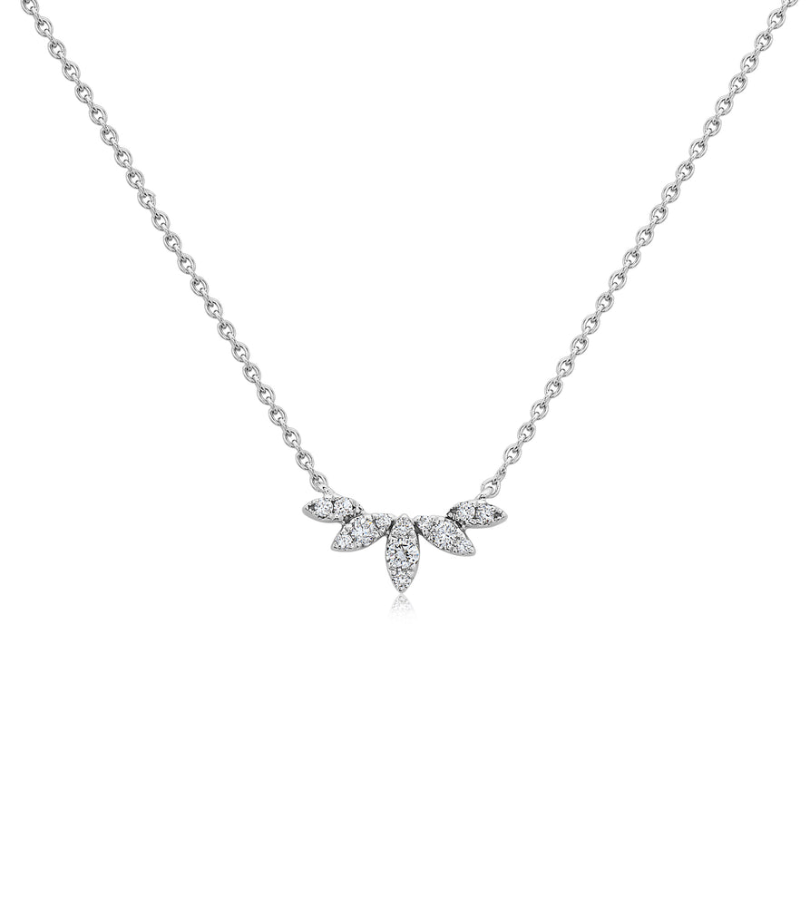 Diamond Petal V Necklace