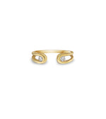 Diamond Loop Ring - 14K Yellow Gold / 5 - Olive & Chain Fine Jewelry