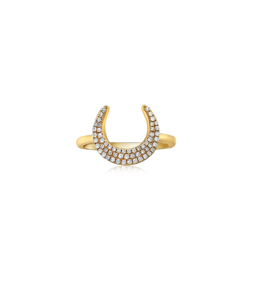 Diamond Horn Ring - 14K Yellow Gold / 5 - Olive & Chain Fine Jewelry