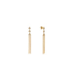 Diamond Triangle Tassel Earring - 14K Yellow Gold - Olive & Chain Fine Jewelry