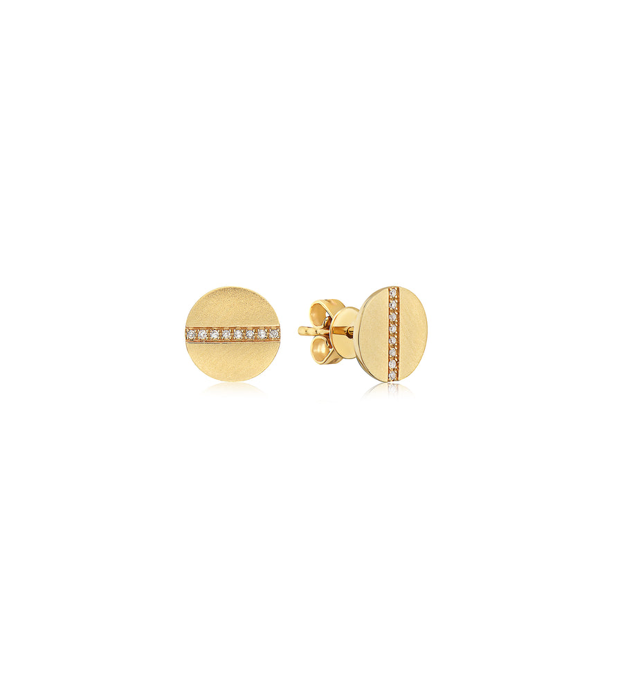 Diamond Screw Stud Earring - 14K Yellow Gold - Olive & Chain Fine Jewelry
