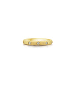 Diamond 5 Stone Flush Band - 14K Yellow Gold / 5 - Olive & Chain Fine Jewelry