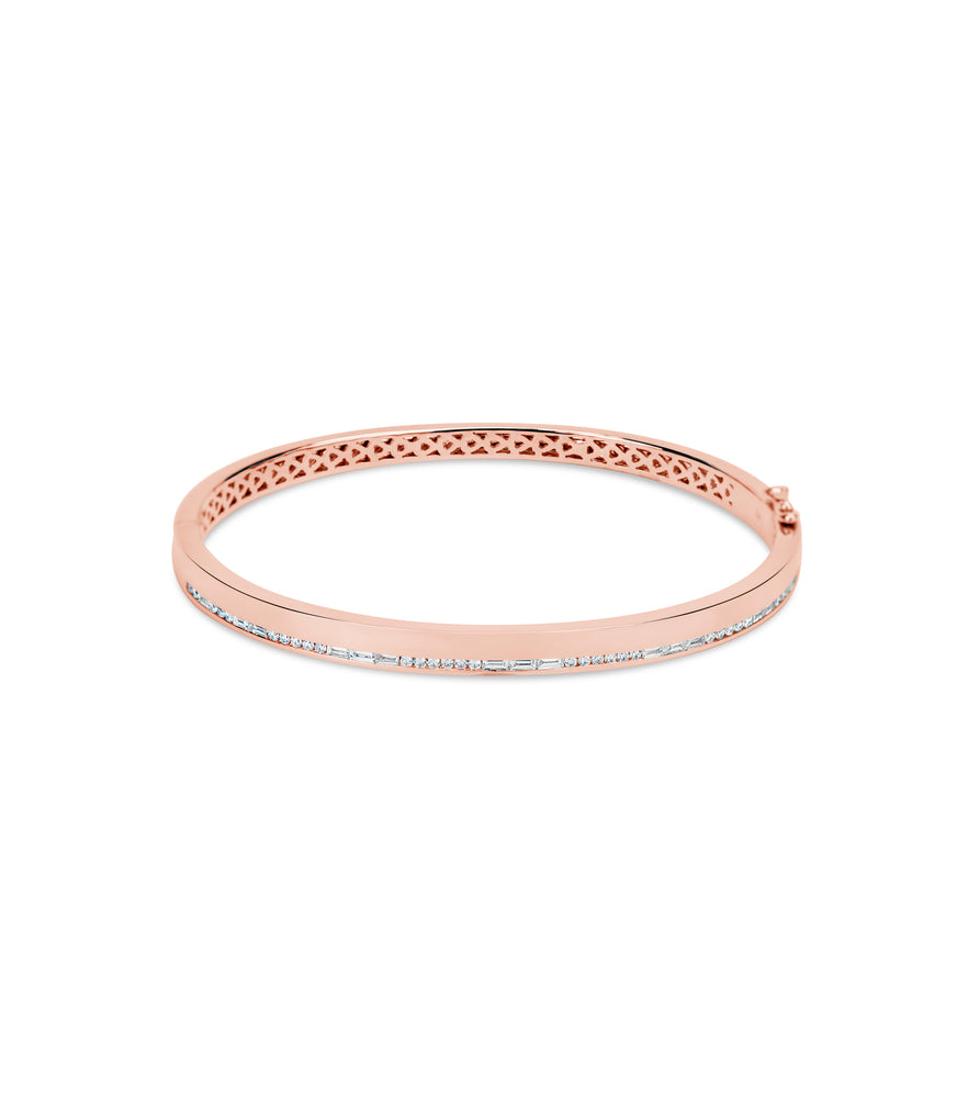 Diamond Channel Bangle