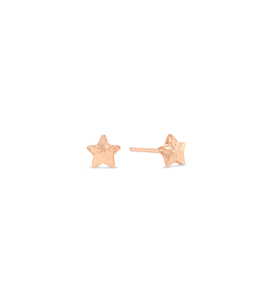 Gold Star Stud Earring - 14K Rose Gold - Olive & Chain Fine Jewelry